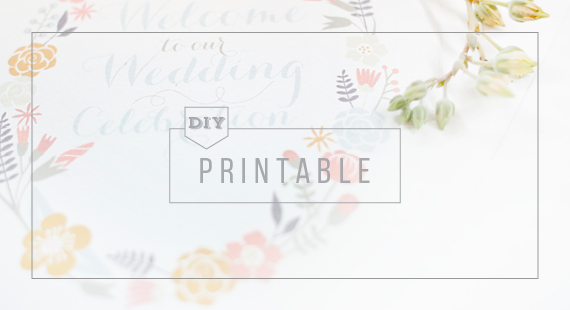 Pretty Floral Program Diy Wedding Friends
