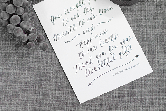 No Thank You For Wedding Gift: A Simple Thank You Note Printable