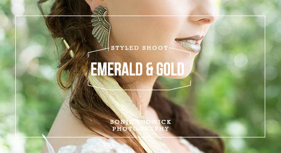 SONJE LUDWICK PHOTOGRAPHY_EMERALD GREEN AND GOLD ENCHANTED FOREST SHOOT_Cover