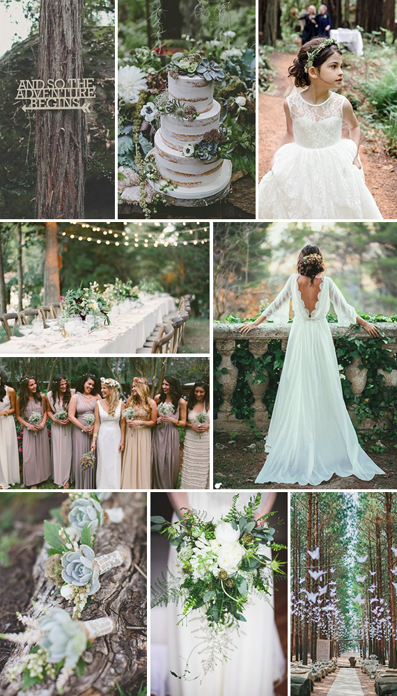 Enchanted Forest Themed Wedding Wedding Friends