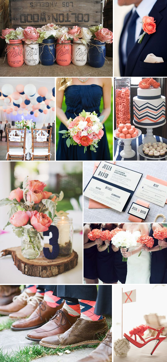 Navy And Coral Wedding.Navy And Coral Wedding Friends